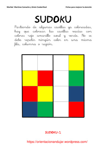 Fichas mejorar atención - Orientación Andújar - Recursos Educativos