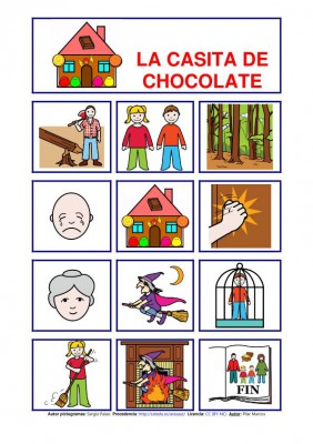 cuentos pictogramas casita de chocolate