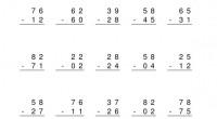 Nuevas fichas para trabajar la competencia matemática en esta ocasión restas de dos cifras sin llevada. Cada uno de los archivos en PDF conta de 100 fichas y cada una […]