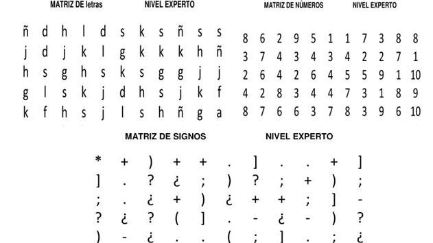 Coleccion de 1000 Matrices nivel experto Smbolos Letras