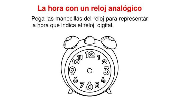 Fichas para trabajar las horas digital y anal gico orientacion andujar - Mecanismo para reloj de pared ...