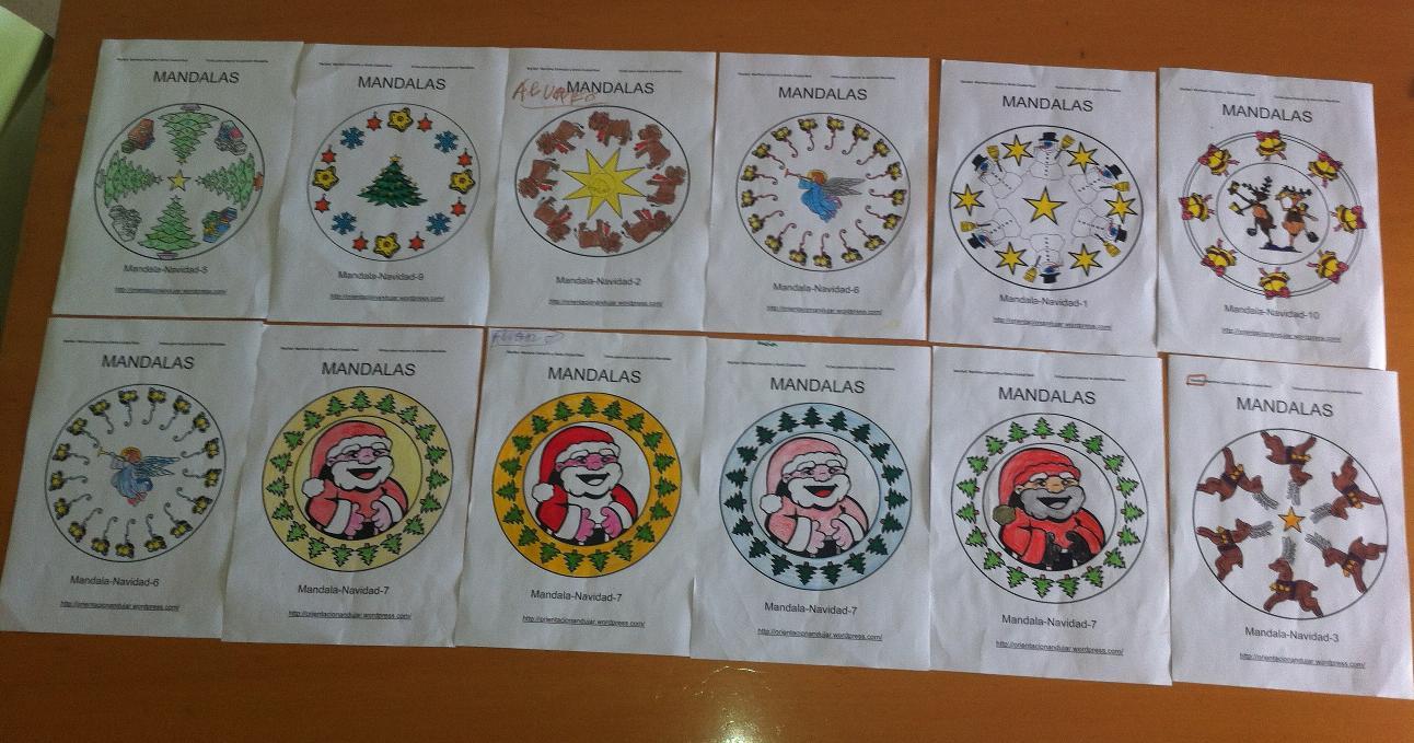 Nuevos Mandalas Navideños con diplomas y fichas de recompensa ...
