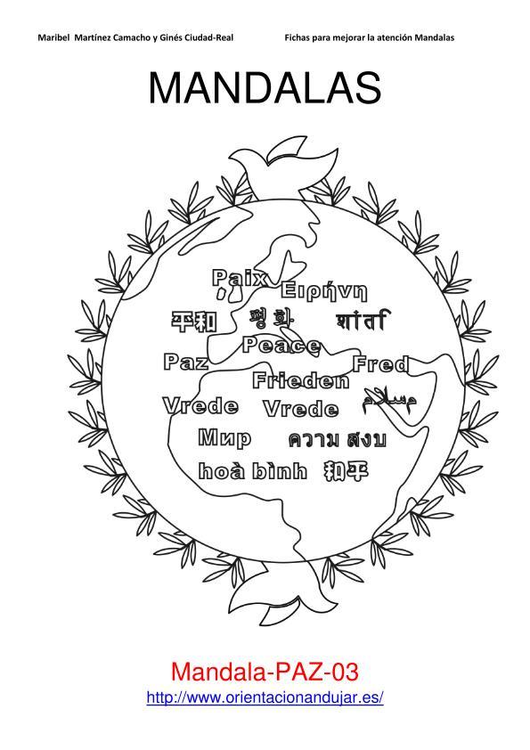 Mandala sobre la Paz , mandala 1 , mandala 6 ( orientación-andujar