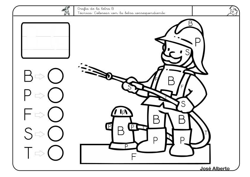 Asombroso Letra B Para Colorear Para Niños En Edad Preescolar ...