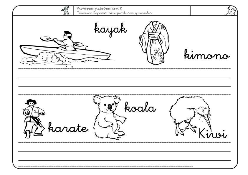 Dorable Letra K Hoja Para Colorear Fotos - Ideas Para Colorear ...