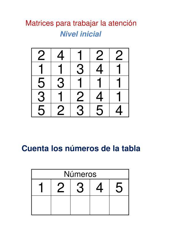matriz de numeros nivel inicial fichas imagen 2