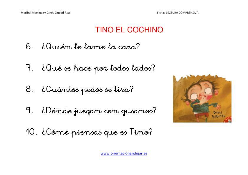 TINO EL COCHINO Escucha comprensiva imagenes-2 cuento dirty bertie