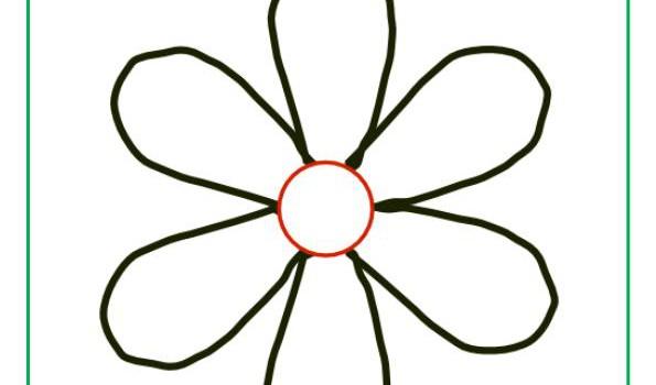 Flores para colorear de 8 petalos - Imagui