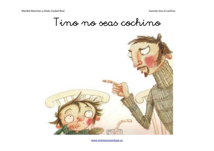 Cuentos >> Video cuentos infantiles para niños Tino el Cochino -Orientacion Andujar