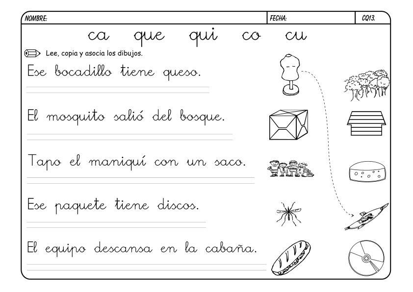 ACTIVIDADES DE LECTO-ESCRITURA II - El blog de LUIS LORA