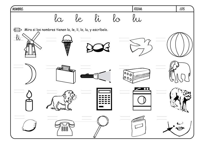 Dibujos Para Colorear Con La Letra L Fondos De Pantalla
