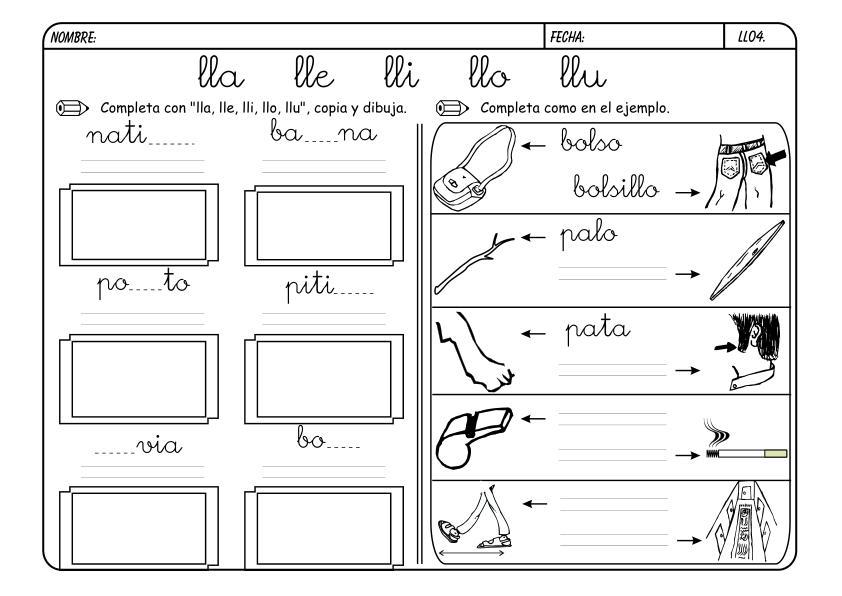 Actividades de lecto escritura ii el blog de luis lora for L practicas