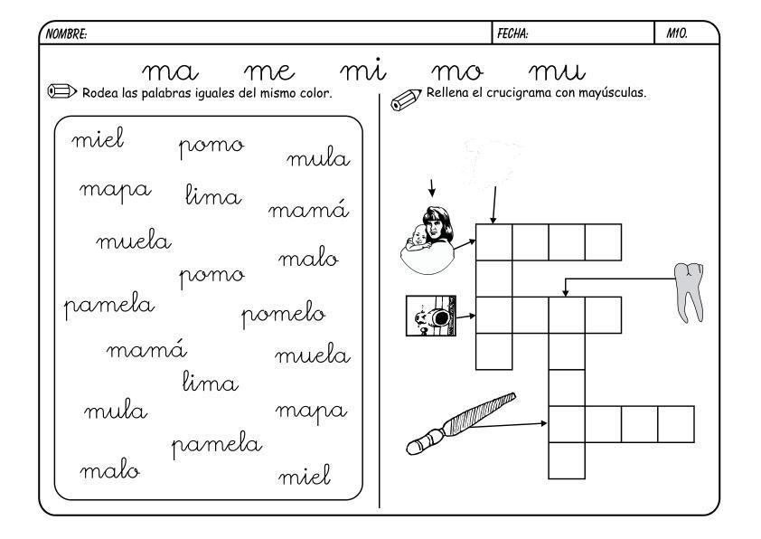 Lectoescritura Letra M Pictures