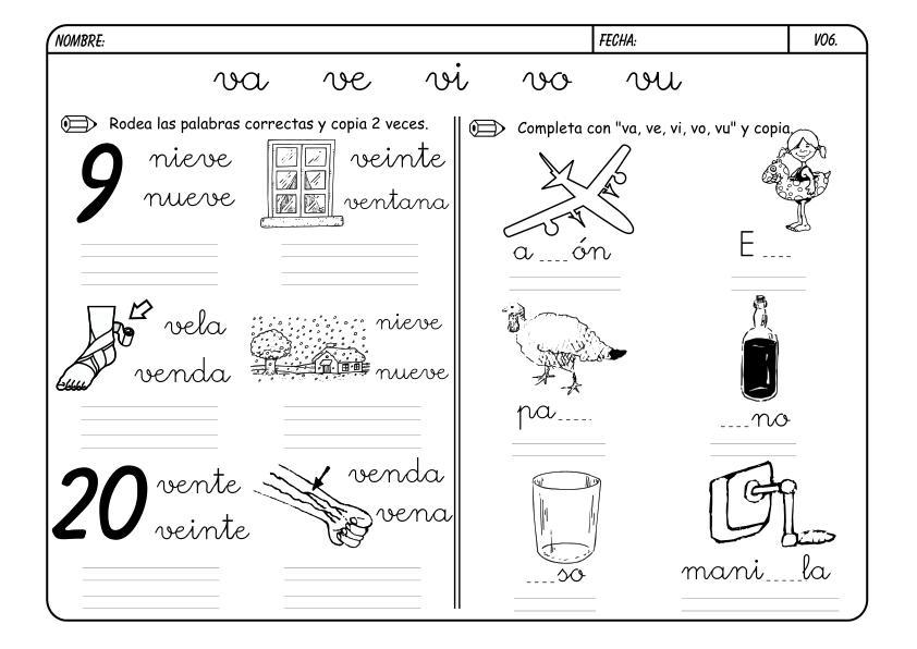 Dibujos Con La Trabada Br: Fichas Para Colorear Por Trabadas Recursos Educativos T