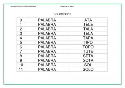 lectoescritura primaria bingo de letras