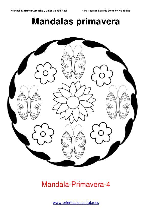 Colorear mandalas de primavera -Orientacion Andujar