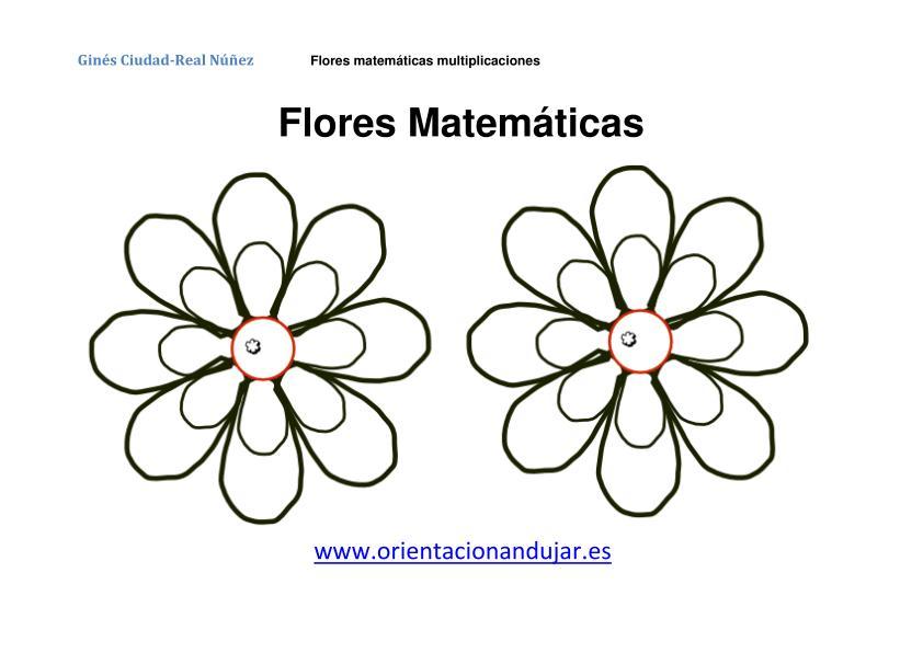 Multiplicaciones primaria con flores matemáticas -Orientacion Andujar