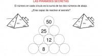 Sumas primaria, con pirámides secretas en las que nuestros alumnos deberán de completar la pirámide, sabiendo que la suma de cada cuadro superior es la suma de los dos cuadros […]