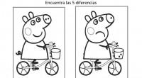 Encuentra las diferencias con dibujos animados, este es un ejercicio para potenciar la percepción visual y la atención en los niños. Actividades de estimulación de la inteligencia en niños en...