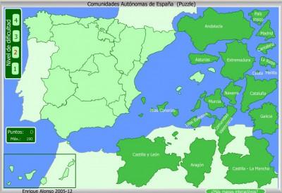 Comunidades Autónomas de España PUZZLE