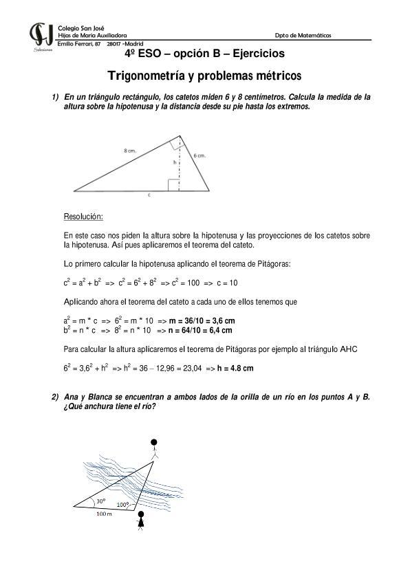 4º ESO OPCIÓN B Bloque II: Álgebra. Aplicaciones ecuaciones ...