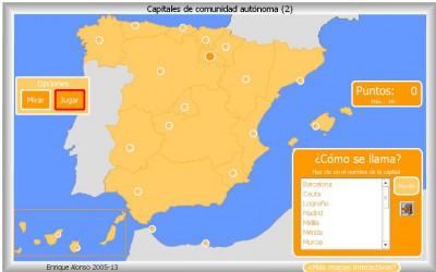 cAPITALES Comunidades Autónomas de España COMO SE LLAMA