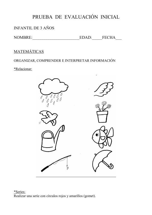 Nuevas pruebas de evaluación inicial y registros para infantil 2013 ...
