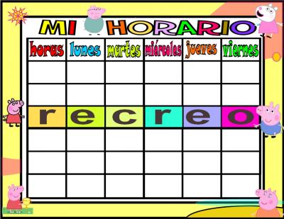 horario 5 HORAS-1 peppa pig