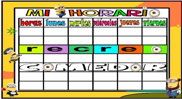 Horarios escolares en formato editable y tutorial de como hacerlos ...