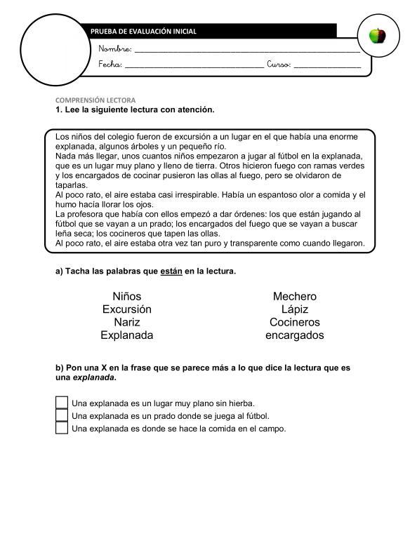 Recopilación de Evaluaciones Iniciales Segundo Ciclo Primaria + ...