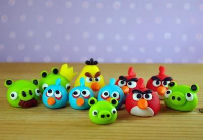 angry birds PLASTILINA