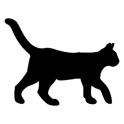 Siluetas De Gatos Para Decorar Paredes