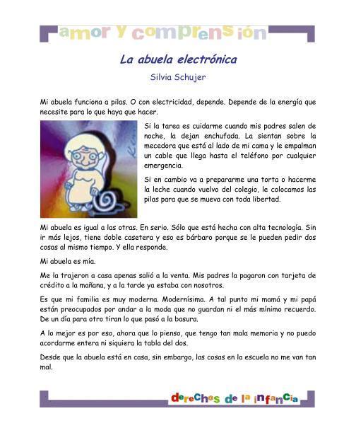 La Abuela electronica derecho al Amor y Comprension imagen ...