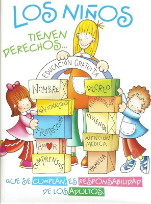 cartel los derechos de los niñas y niñas para educacion infantil