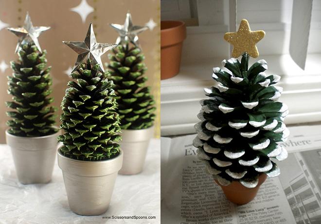 arbol de navidad pequeo con pias - Arbol De Navidad Pequeo