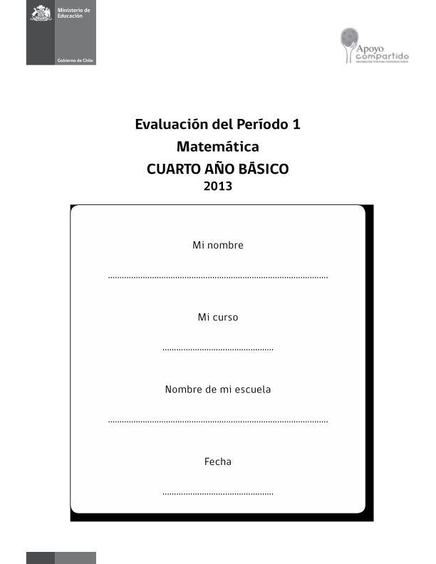 CUARTO DE PRIMARIA EVALUACION MATEMATICA PRIMER TRIMESTRE IMAGEN ...