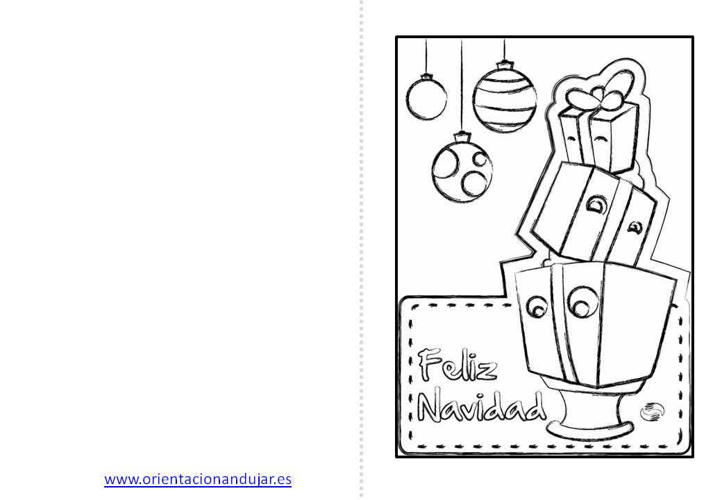 Christmas de navidad para colorear 5 orientaci n for Actividades de navidad para colorear