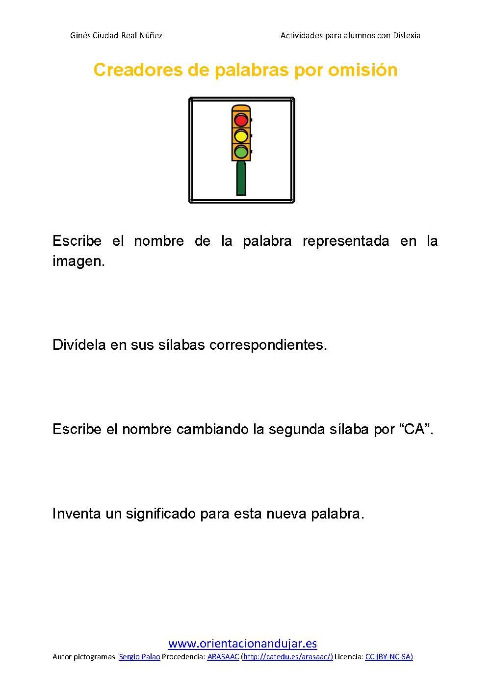 Ejercicios Para Ninos Con Dislexia Sustitucion De Silabas Pagina 07