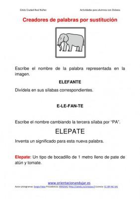 Ejercicios para niños con dislexia sustitucion de silabas imagenes