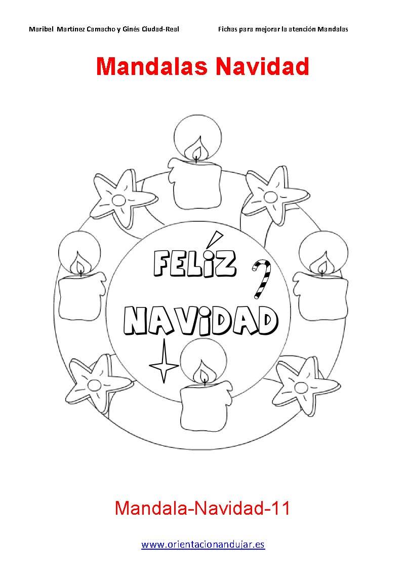 Nuevos MANDALAS navidad orientacion andujar FICHAS 11-20 ...