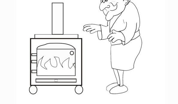 Imagen para colorear de una estufa - Imagui