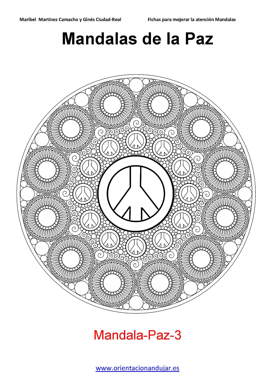 coloreamos las mandalas de la paz 2014 de orientacion