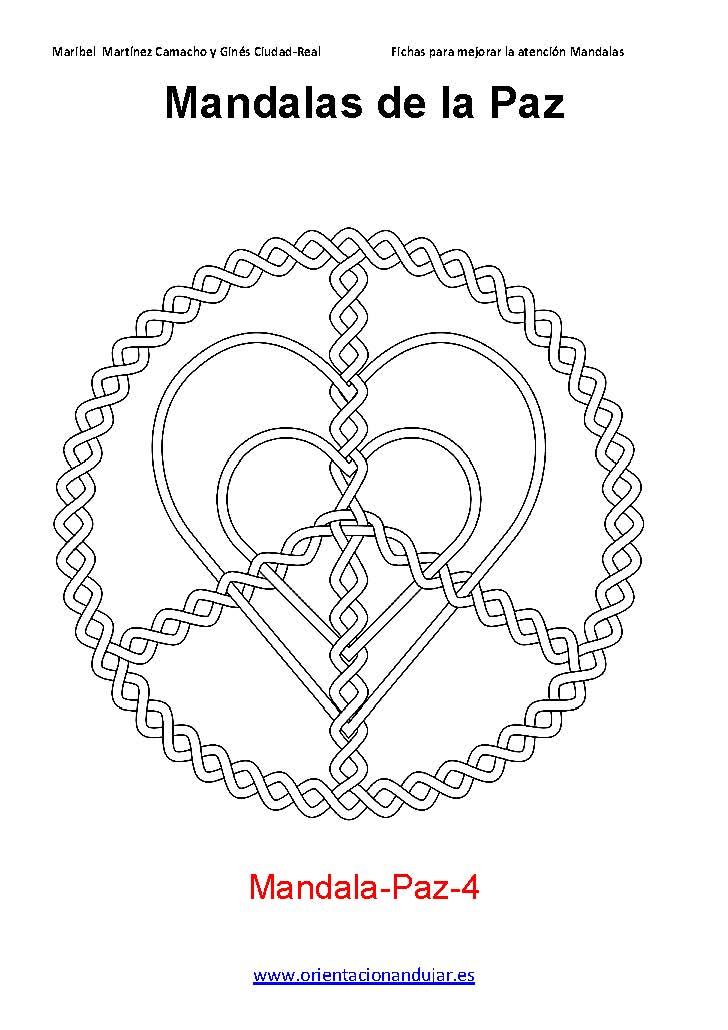 Coloreamos Coleccin de Mandalas de la Paz Orientacion Andujar