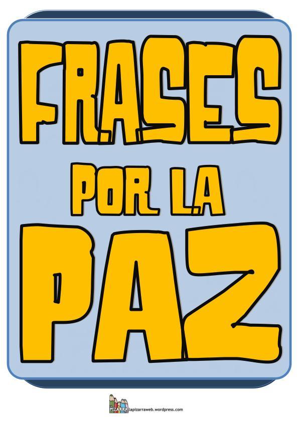 Frases Por La Paz Imagen 1 Orientación Andújar Recursos