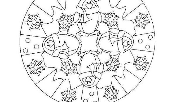 Mandalas para colorear en Invierno Orientacion andujar imagenes ...