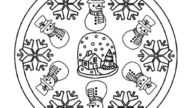Mandalas para colorear en Invierno Orientacion andujar imagenes (4 ...