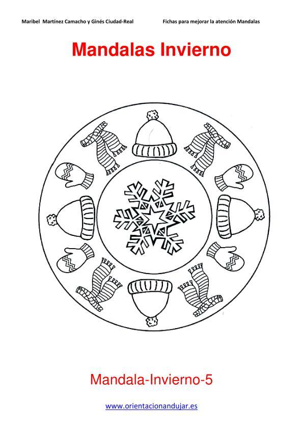 Mandalas para colorear en Invierno Orientacion andujar imagenes (5 ...