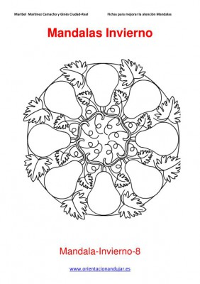 Colección de Mandalas de Invierno para colorear -Orientacion Andujar