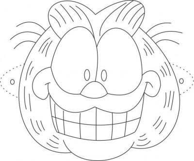 garfield face coloring pages - photo#7