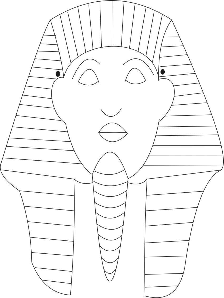 Carteta faraon orientaci n and jar recursos educativos for King tut mask template